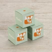 boîte à dragées renard joueur Tadaaz
