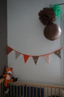 Guirlande Paul et Zoé Créations - Lampions chocolat et pompons MyBBShowerShop - Lampion solaire mint Hema