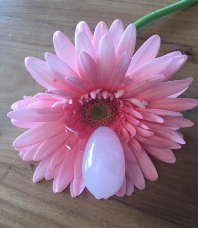 oeuf de Yoni quartz rose